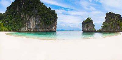 White Sandy Beach In Thailand Art Print