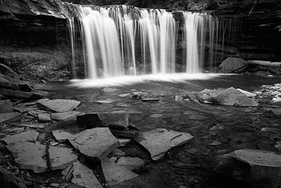 Photograph - Wilderness Waterfall Rocky Pool by John Stephens