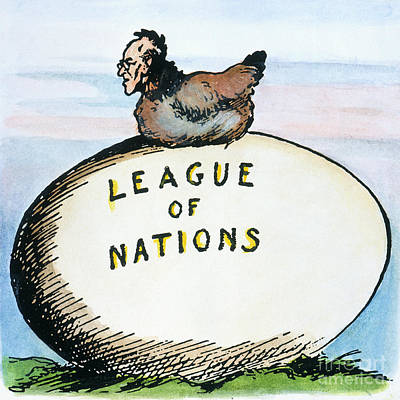 Wilson: League Of Nations Art Print by Granger