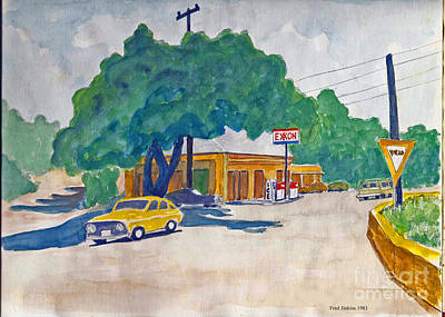 Wimberley Painting - Wimberley Texas  by Fred Jinkins