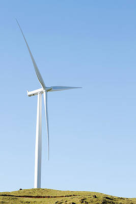 Wind Mills Photograph - Wind Turbine  by Les Cunliffe