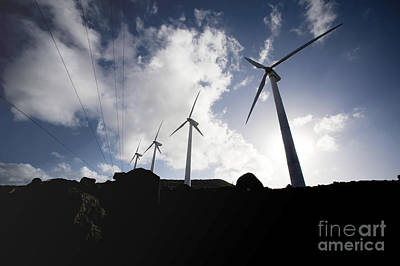 Wind Turbines At The Ascension Art Print by Stocktrek Images