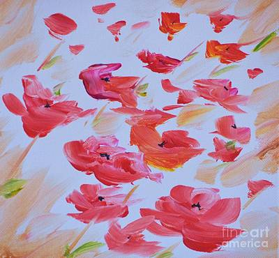 Windy Poppies No. 1 Art Print by Barbara Tibbets