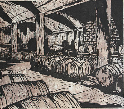 Drawing - Wine Cellar by William Cauthern