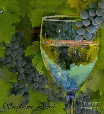 Wine Glass Art Print by Stephanie Laird