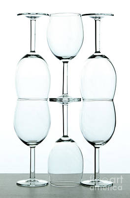 Wine Glasses Art Print by Blink Images