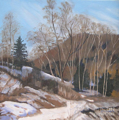 Painting - Winter At The Brickworks by Joan McGivney