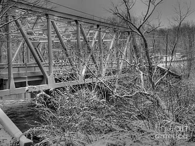 Winter Bridge Art Print by David Bearden