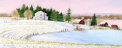 Painting - Winter Evening by Phyllis Martino