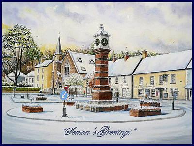 Winter In Twyn Square Art Print by Andrew Read