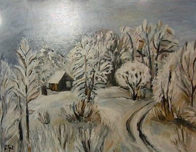 Winter Landscape Print by Sanja  Prsic