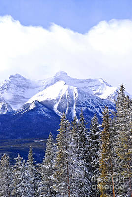 Mountain Royalty-Free and Rights-Managed Images - Winter mountains by Elena Elisseeva