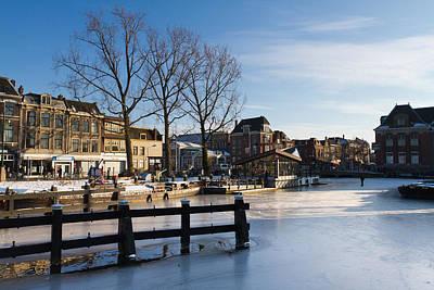 Winter Streets In Holland Art Print by Boyan Nedkov
