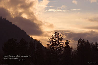Photograph - Winter Sunset Over Grants Pass by Mick Anderson
