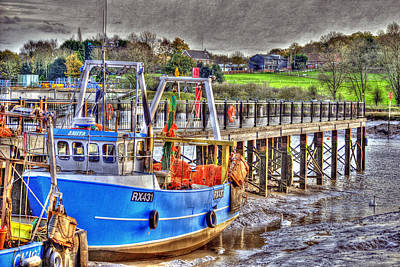 Hdr Photograph - Wivenhoe Fishing Boat by Jane James