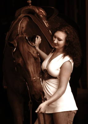 Photograph - Woman And Horse by Angela Rath