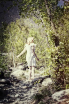 Woman In A Forest Print by Joana Kruse