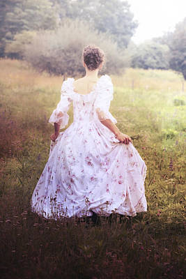 Lace Photograph - Woman In A Meadow by Joana Kruse