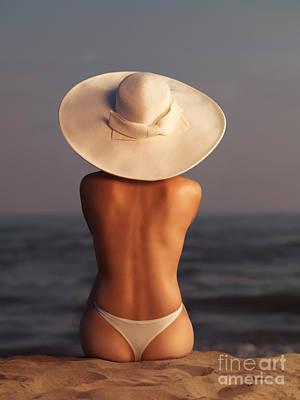Woman On A Beach Print by Oleksiy Maksymenko