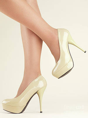 Woman Wearing High Heel Shoes Art Print by Oleksiy Maksymenko