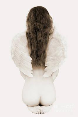 Female Nude Feet Photograph - Woman With Angel Wings by Oleksiy Maksymenko