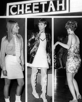 Women Wearing Miniskirts Art Print