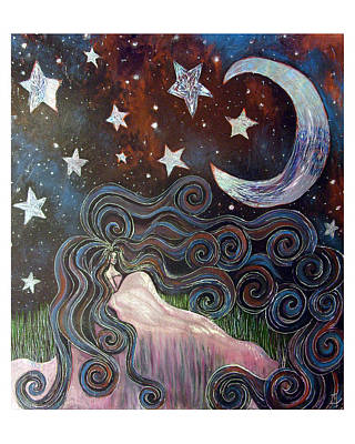 Art Print featuring the painting Wonder Of Night by Monica Furlow