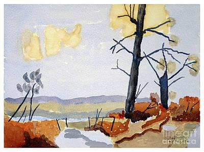 Wooded Landscape Art Print