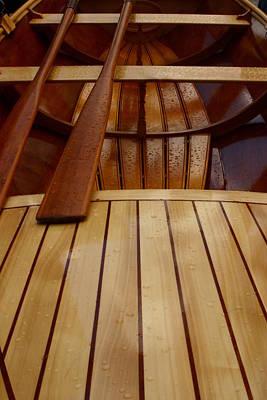 Fine Dining - Wooden Boat and Oars by Noel Elliot