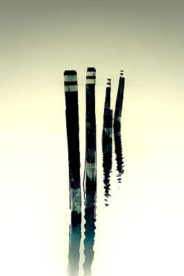 Wooden Piles Art Print by Joana Kruse