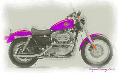Harley Davidson Art Painting - World Famous by Wayne Bonney