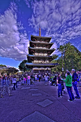 Photograph - World Showcase Japan Hdr by Jason Blalock