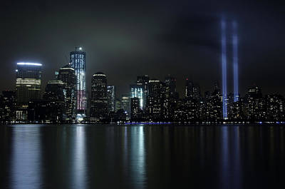World Trade Center Memorial Lights Art Print