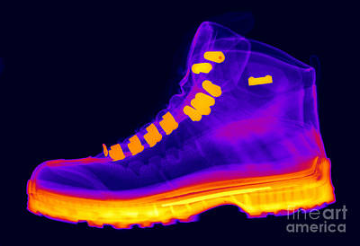 Photograph - X-ray Of A Hiking Boot by Ted Kinsman
