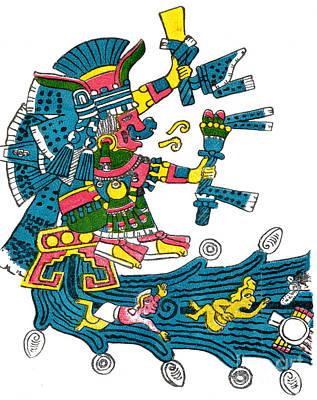 Xochiquetzal, Aztec Goddess Of Beauty & Art Print by Photo Researchers