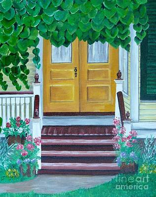Painting - Yellow Door by Michelle Welles