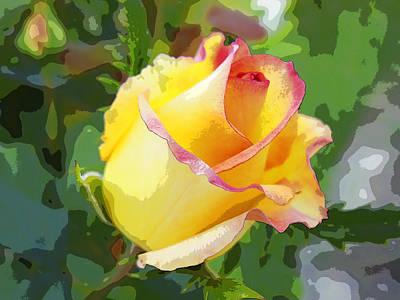 Yellow Rose Art Print by Anne Mott