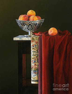 Antique Look Painting - Yellow Silver And Red by Barbara Groff