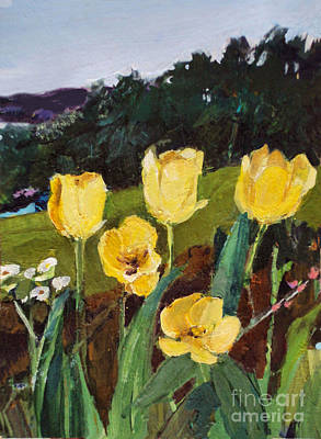 Painting - Yellow Tulips by Diane Ursin