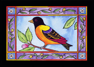 Painting - Yellowbird by Pamela  Corwin