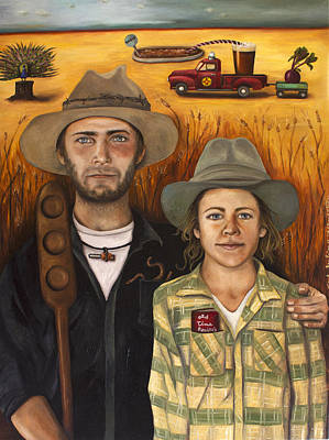 Moonshine Painting - Zeb And Ellen by Leah Saulnier The Painting Maniac