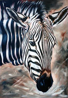 Zebra Art Print by Ilse Kleyn