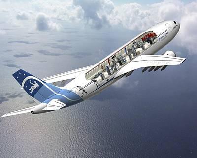 High Altitude Flying Photograph - Zero-g Airbus Aircraft, Artwork by David Ducros