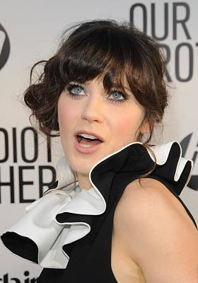 Zooey Deschanel At Arrivals For Our Print by Everett