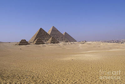 Zoser And Giza Pyramids Art Print