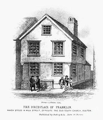 Benjamin Franklin Art Print by Granger