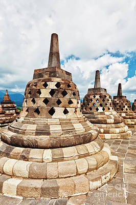 Jogjakarta Photograph - Borobudur by MotHaiBaPhoto Prints