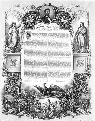 Emancipation Proclamation Art Print by Granger