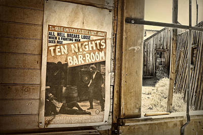 Old West Photograph - 10 Nights In A Bar Room by Scott Norris