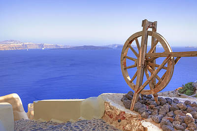 Wooden Wheels Photograph - Oia - Santorini by Joana Kruse